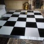 black & white dance floor clitheroe