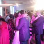 Guests joining in the first dance