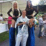 Balloon Fun with the stilt Walkers at Edge Hill!