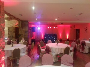 Set up in the main room