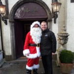 Greeted by Santa on arrival!