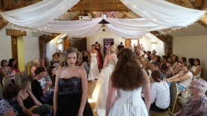 Fashion show at the wedding fayre