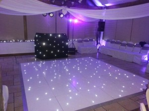 12 ft white LED dance floor