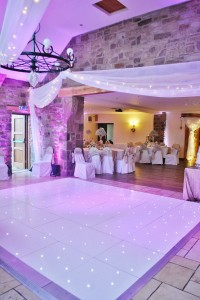 12*14ft white LED dance floor with uplights