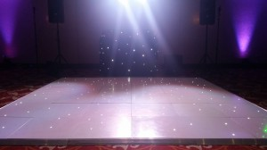 12ft white LED dance floor