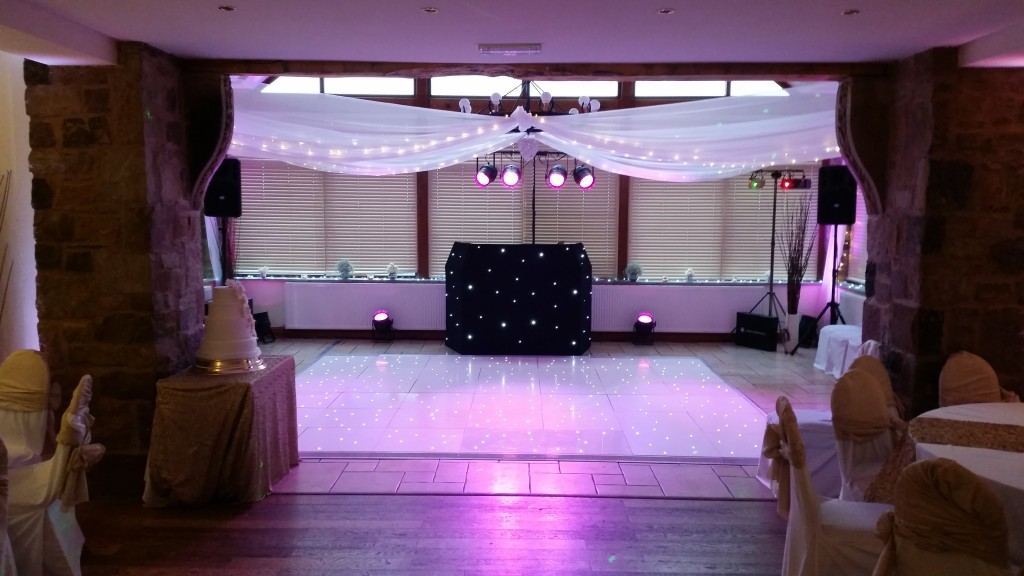 12*14ft white LED floor with uplights