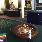 3 casino tables set for the first night