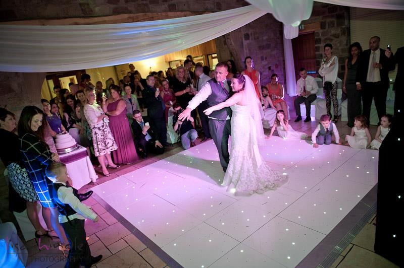12*12ft white LED dance floor