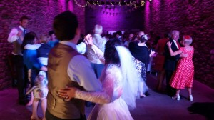 Guests join in the first dance