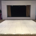 18ft white LED dance floor @ Dunkenhalgh Hotel