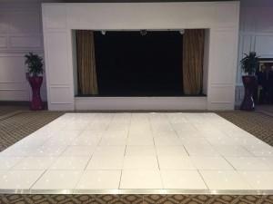 18ft white LED dance floor @ Dunkenhalgh Hotel