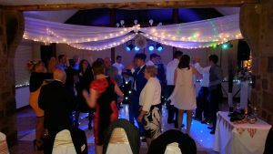 white LED dance floor hire preston