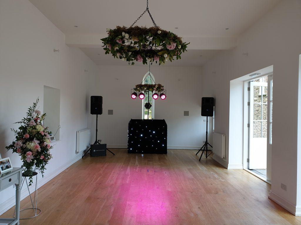 wedding dj set up silverholme
