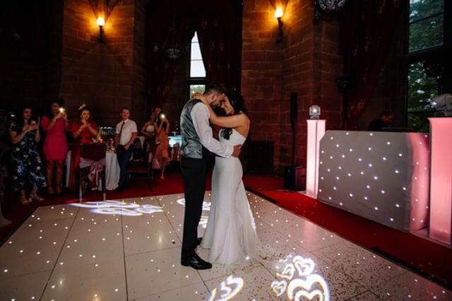 wedding dj peckforton castle