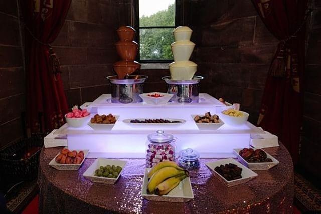 chocolate fountain hire peckforton castle
