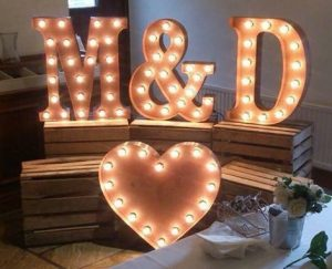 rustic letter hire wedding