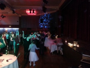 Bride does a 'dirty dancing' leap from the stage!