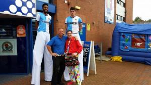Andy B & Darren Lee entertaining at Blackburn Rovers