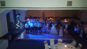 Mr & Mrs Hunt celebrating their wedding at the Imperial hotel