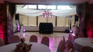 Our popular DJ Andy B set up in the conservatory