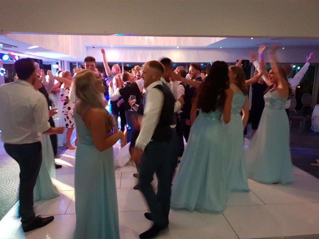 wedding party hurlston hall
