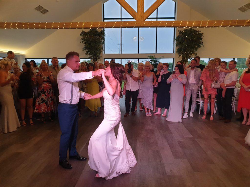 wedding dj staining