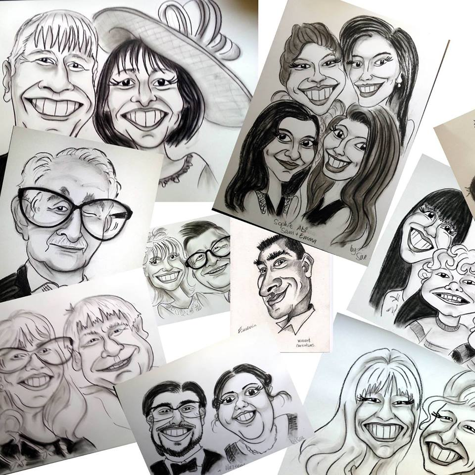 caricaturist hire north west