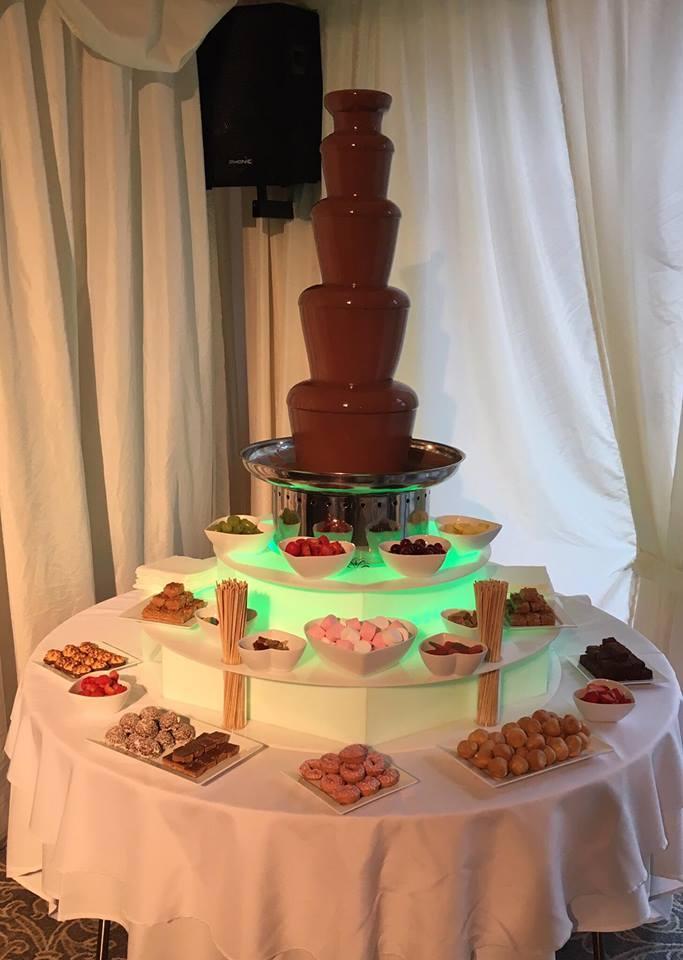 chocolate fountain hire villa wrea green